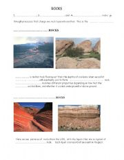 English Worksheets: Rocks