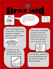 First aid worksheets for students