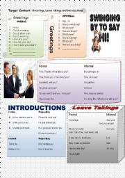 English exercises greetings and leave takings greetings leave takings and introductions vocabulary level elementary age 7 17 downloads 117 m4hsunfo