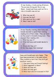 English Worksheets: Donald and Daisy