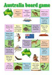 English Worksheet: Australia board game