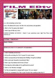 English Worksheets: FILM WORKSHEET: EDTV