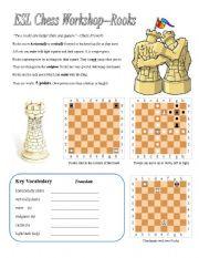 ESL Chess Workshop--Rooks, Rules, Quiz, Key