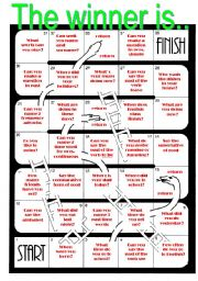 English teaching worksheets: Board games