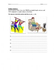 English Worksheets: Sentence writing