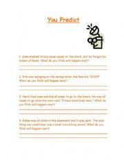 English Worksheet: Prediction