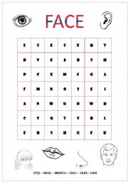 English Worksheet: FACE Crossword