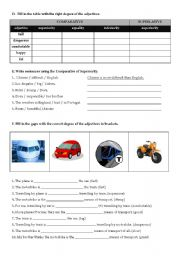 English Worksheet: Shopping (part III- adjective degrees and writing a dialogue)
