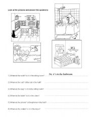 English Worksheets: Look at the pictures and answer the questions