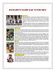 English Worksheets: Britain�s National Costumes