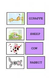 English Worksheets: memory card - animals