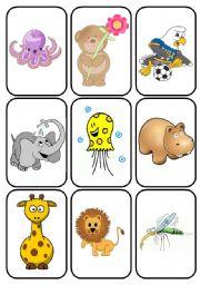 English Worksheets: ANIMAL FLASHCARD 1