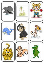 English Worksheets: ANIMAL FLASHCARD 2