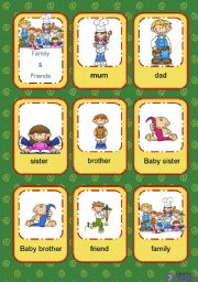 Flashcards Family and Friends