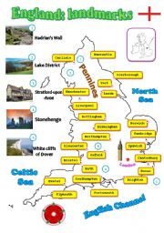 English Worksheet: England: landmarks