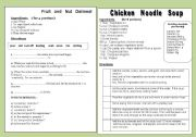English Worksheet: 2 DELICIOUS RECIPES - to practise reading skills