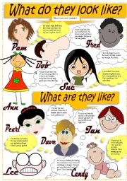 English Worksheet: DESCRIBING PEOPLE (Appearance & Personality)