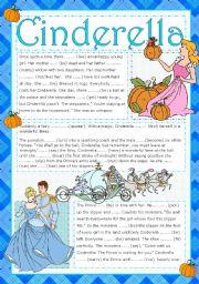 English Worksheet: CINDERELLA- READING ACTIVITY (+KEY) (editable)