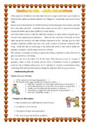 English Worksheets: Candies for Kids
