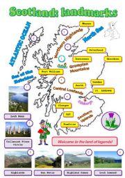 English Worksheet: Scotland: landmarks