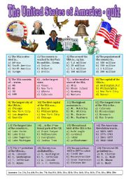 English Worksheet: The USA - quiz