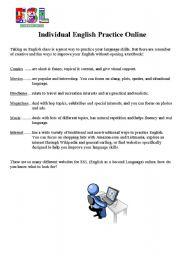 English Worksheets: Individual English Practice Online