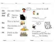 English Worksheets: Dolche word practice