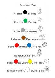 English worksheet: Poem about toys