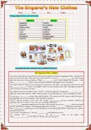 The emperor´s new clothes and using Adjectives and Adverbs 2011