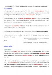 English Worksheet: the fifth child extract 1