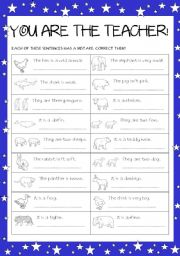 English Worksheets: You are the teacher!