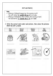 Soft and Hard C - ESL worksheet by sashahakouz