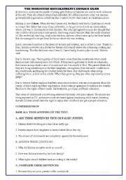 English Worksheet: Morocco�s Baccalaureate Exam 2010