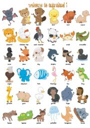 English Worksheets: Welcome to Animaland (part1)