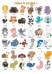 English Worksheets: Welcome to Animaland (part2)