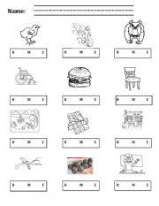 English Worksheets: Ch Worksheet