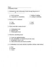 Worksheets Sedimentary Rock Worksheet english worksheets sedimentary rocks quiz quiz