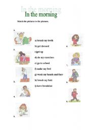 English Worksheets: in the morning