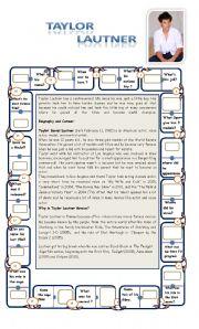 English worksheet: TAYLOR LAUTNER