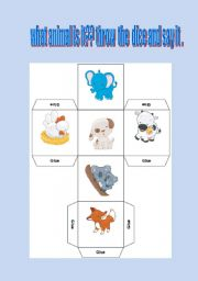 English Worksheets: WHAT  ANIMAL IS IT ????
