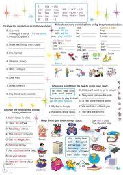 English Worksheet: Pronouns - Object and Possessive