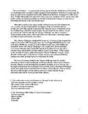 English Worksheets: The ocean bottom