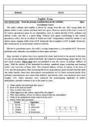 english worksheet greenhouse gases english exam. Black Bedroom Furniture Sets. Home Design Ideas