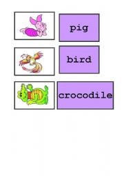 English Worksheets: memory card - animals,