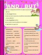 English Worksheets: AND / BUT