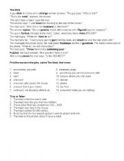 English Worksheet: cleaning lady