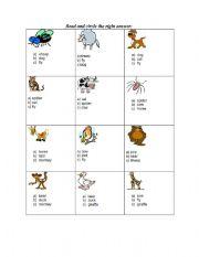 English Worksheets: Circle the right word.