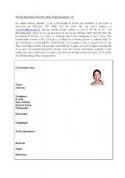 English Worksheet: Writing a CV to get a job