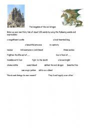 English Worksheets: The kingdom of the evil dragon