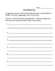 English Worksheets: Appositives